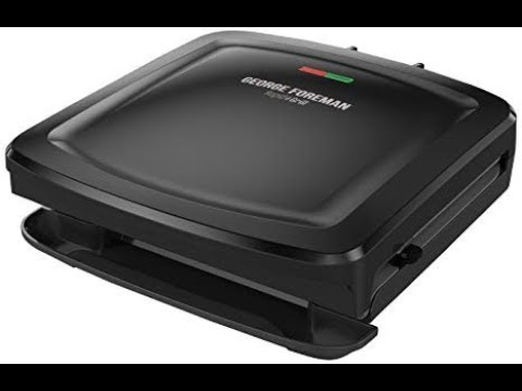 , George Foreman 4-Serving Removable Plate Grill and Panini Press, Black, GRP1060B