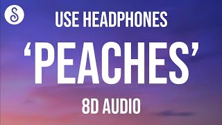Justin Bieber - Peaches (8D AUDIO) ft. Daniel Caesar, Giveon