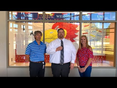 Jennifer Silvay, Joe Blazevich, Jeremy Braden Urbandale Middle School Welcome