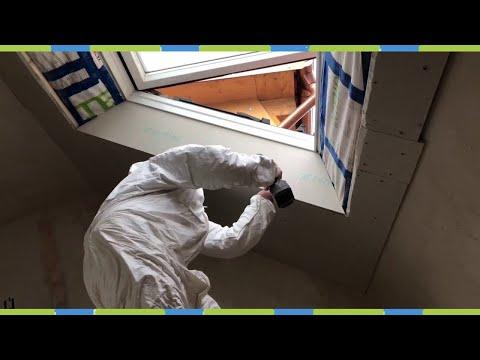 Dachschräge mit Dachfenster verkleiden Dachlatten und fermacell Greenline