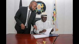 SO HELP ME GOD: Mombasa governor Ali Hassan Joho is sworn in