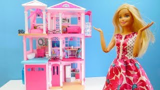 Muñeca Barbie. Casa de los sueños. Vídeos para niñas.
