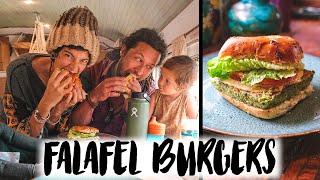 Vegan Falafel Burger Recipe with Lemon Tahini Dressing
