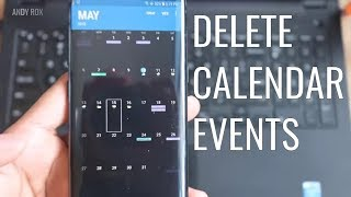 How to delete calendar events on Android