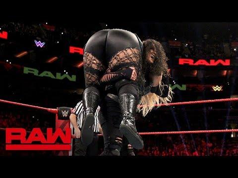 Nia Jax & Ember Moon vs. Dana Brooke & Tamina: Raw, Oct. 15, 2018