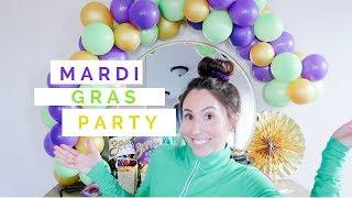 Balloon Garland Tutorial   Mardi Gras Party