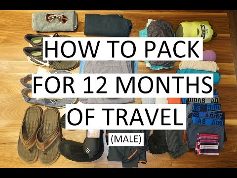 How to Pack for 12 Months of Travel (Male) – Nomatic Travel Bag // Week 19