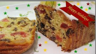 Fruit Cake recipe video - Eggless - Merry Christmas & Happy New year