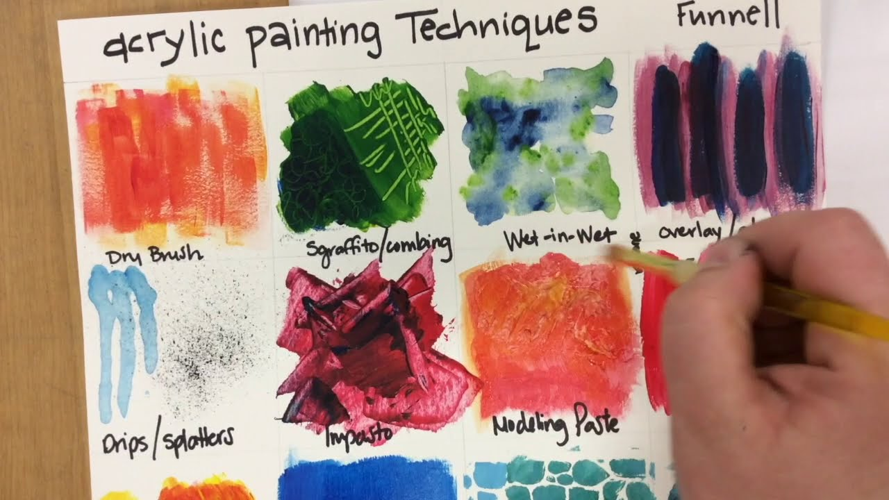 acrylic painting tips and techniques by jennifer funnell