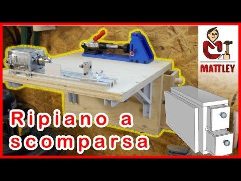 Come costruire un ripiano pieghevole per mini tornio