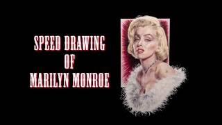 Speed drawing of Marilyn Monroe