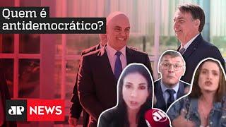 Bolsonaro ou Alexandre de Moraes: quem ameaça a democracia? Debate entre Amanda, Bernardi e Zoe