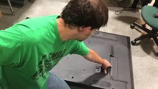 Sharp lc-65p6000u tv tear down take apart