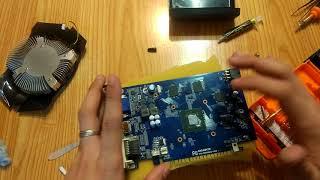 видеокарта geforce gtx 650 1gb замена термопасты и подготовка для CS GO