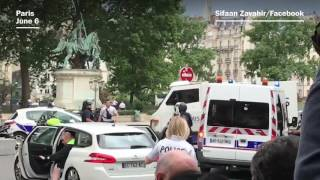 Paris police respond to attack at Notre Dame