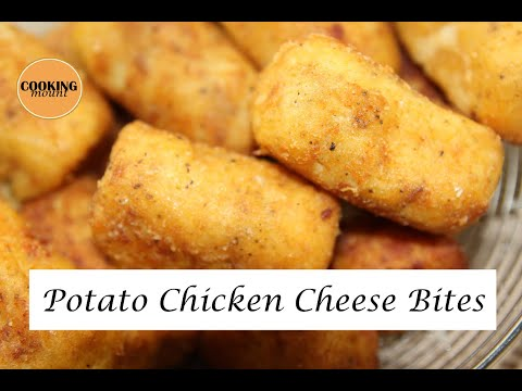 Potato Chicken Cheese Bites Recipe | No Bread Crumbs | Easy to Make Snack Recipe By Cooking Mount