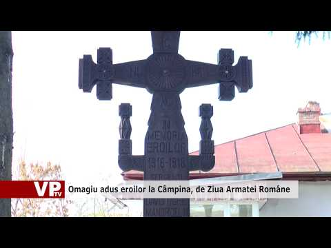 Omagiu adus eroilor la Câmpina, de Ziua Armatei Române
