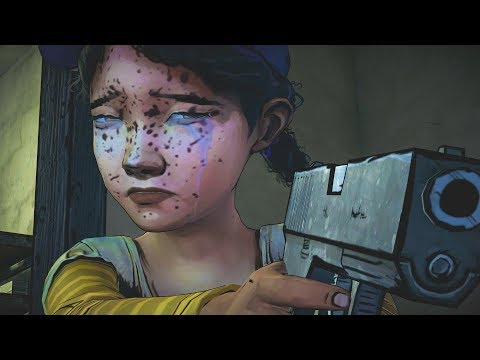 Clementine Shoots Lee - The Walking Dead Game Remastered Ending Scene