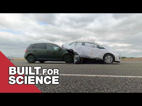 The Collapsible Crash Test Robot Car | Tom Scott
