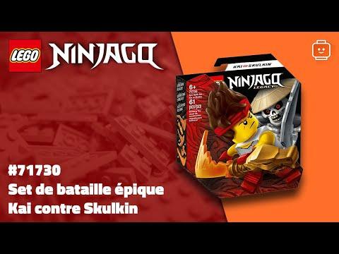 Vidéo LEGO Ninjago 71730 : Set de bataille épique - Kai contre Skulkin