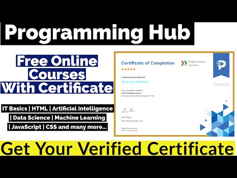 Programming Hub Free Courses With Certificate - YouTube