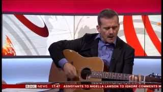 Colonel Chris Hadfield - Space Oddity (live & unplugged) on BBC News 24 (12/12/13)