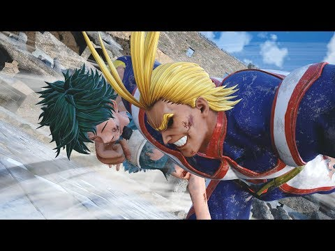 Jump Force - All Might Complete Moveset + Vs Battles Gameplay (HD)