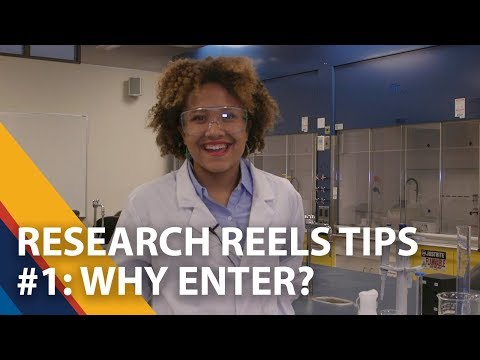 Research Reels Tips - Why enter? 1 of 5