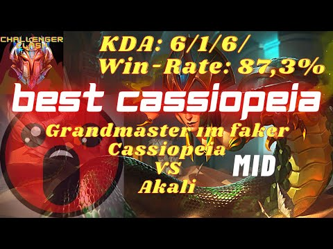 | League of Legends | Cassiopeia VS Akali (MID) | BEST CASSIOPEIA Grandmaster ım faker - TR