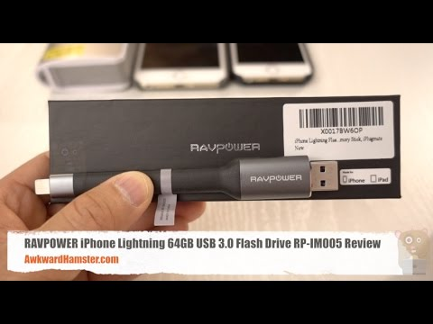RAVPOWER iPhone Lightning 64GB USB 3.0 Flash Drive RP-IM005 Review