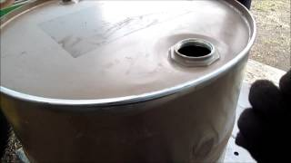 Cutting 55 gal  drum (to make it shorter )