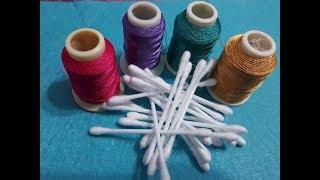 Kulak Çöpü Ile Yapılan Yazma Modeli Embroidered, Needle And Thread