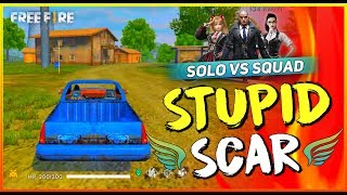 Solo Vs Squad Cupid Scar Fire 2019   Garena Free Fire  Total Gaming