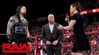 Stephanie McMahon addresses the Roman Reigns situation: Raw, May 21, 2018 - Video Youtube