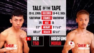 Clash of Champions 2 Main Event - Rex Tso 曹星如vs Hirofumi Mukai 向井寬史 -Super Flyweight 超蠅量級