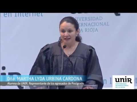Graduación 2014 - Intervención de la alumna Dña. Martha Lyda Urbina
