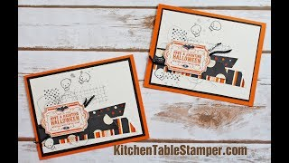 Stampin' Up! Labels to Love Halloween Card Tutorial with Kitchen Table Stamper