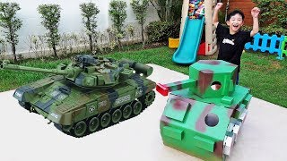 Tank Toy Assembly with Power Wheels Car Toys Activity