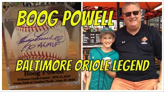 Baltimore Oriole Hall Of Famer Boog Powell Signs Autographs At Camden Yards 6/27/18