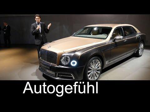 Bentley Mulsanne Facelift EWB motor show REVIEW extended wheelbase Interior/Exterior live check
