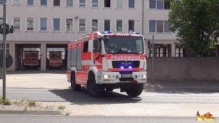 preview picture of video 'HLF + Löschzug und 2x RTW BF Hildesheim'