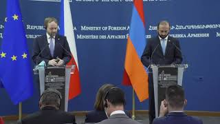 Remarks by Foreign Minister Ararat Mirzoyan during the joint press conference with the Foreign Minister of Czech Republic Jakub Kulhánek