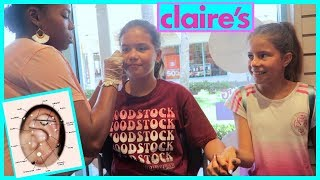 """GETTING MY EARS PIERCED FOR THE SECOND TIME AT CLAIRE'S """" OMG 😮 😱😫"""" #236"""