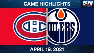 NHL Game Highlights | Canadiens vs. Oilers - Apr. 19, 2021