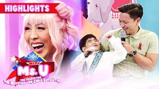 Jhong gets surprised after Yorme pinched him | It's Showtime Mini Miss U