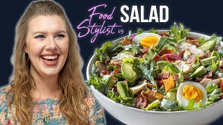 How A Food Stylist Styles Panera Bread's Green Goddess Cobb Salad | Styling Tips And Tricks