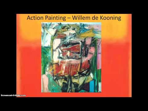 Kunstgeschiedenis; abstract expressionisme deel 1