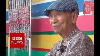 96-year-old painter saves Taiwan village - BBC News