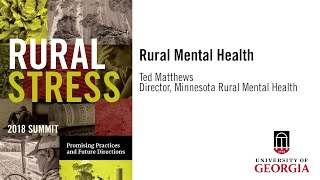 Understanding Rural Stress- UGA Conference