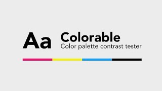 Colorable - The Color Palette Contrast Tester | Dansky